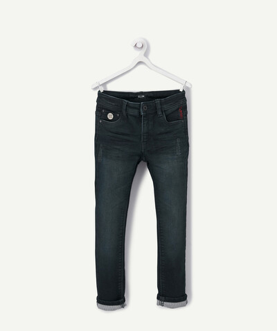 Outlet radius - SLIM MATT RAW DENIM JEANS