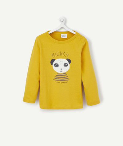 All collection radius - YELLOW PRINTED T-SHIRT IN ORGANIC COTTON