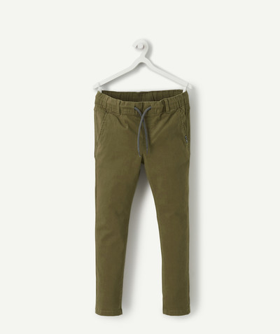 Trousers size + radius - SLIM KHAKI TROUSERS WITH CORDS, PLUS SIZE
