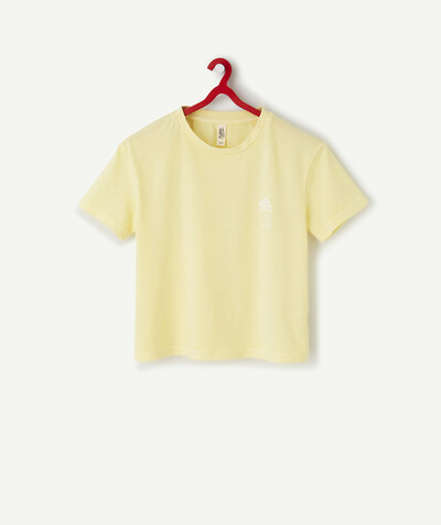 All collection Sub radius in - LIGHT YELLOW OVERSIZED T-SHIRT IN ORGANIC COTTON