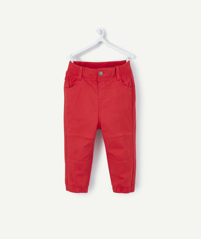 Toute la collection Rayon - le pantalon large en toile rouge