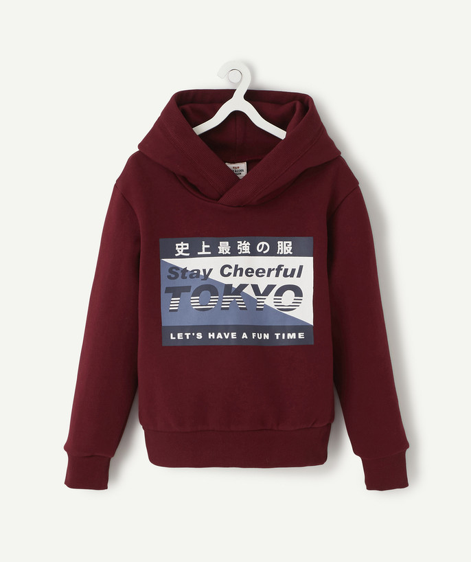 Sweat Rayon - LE SWEAT BORDEAUX À CAPUCHE