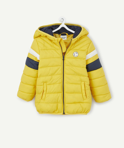 All collection radius - LIGHTWEIGHT AND WATER-REPELLENT YELLOW PADDED JACKET