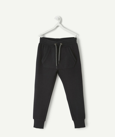 Comfortable fleece radius - BLACK JOGGING PANTS
