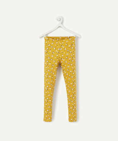 Basics radius - YELLOW FLOWER-PATTERNED LEGGINGS