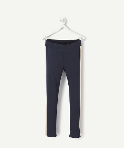 Basics radius - NAVY BLUE TREGGINGS WITH COLOURED BANDS