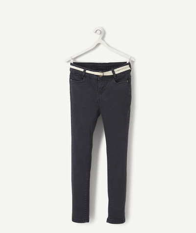 Trousers size + radius - SUPER-SKINNY NAVY BLUE TROUSERS, PLUS SIZE