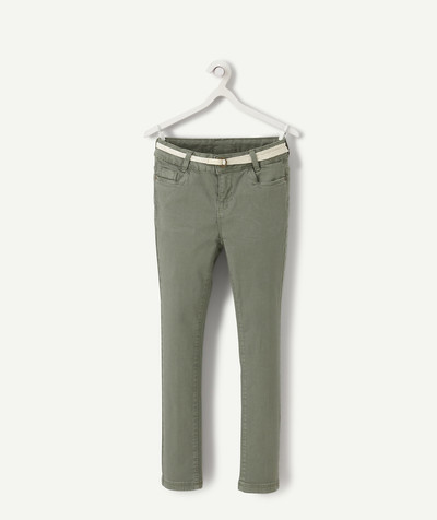 Trousers size + radius - PLUS-SIZED SUPER SKINNY KHAKI TROUSERS