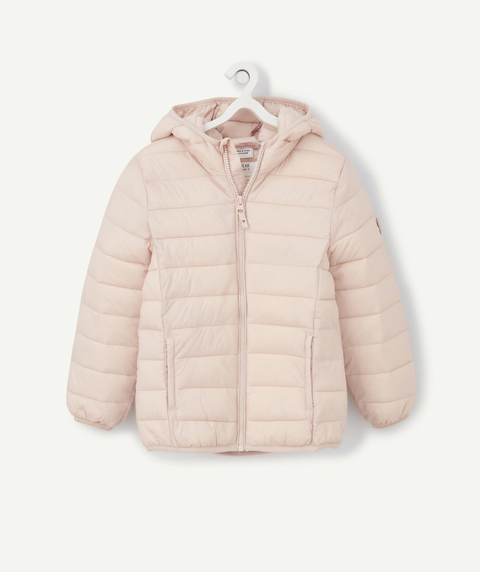 Coat - Padded jacket - Jacket radius - LIGHT AND WATER REPELLENT PINK PADDED JACKET