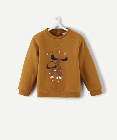 All collection radius - CAMEL SWEATSHIRT WITH DEER IN FELT