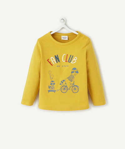 All collection radius - YELLOW T-SHIRT IN ORGANIC COTTON