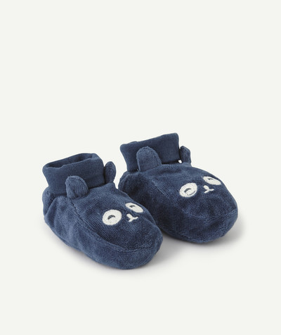 Essentials : 50% off 2nd item* family - HIGH-TOP BLUE VELVET SLIPPERS