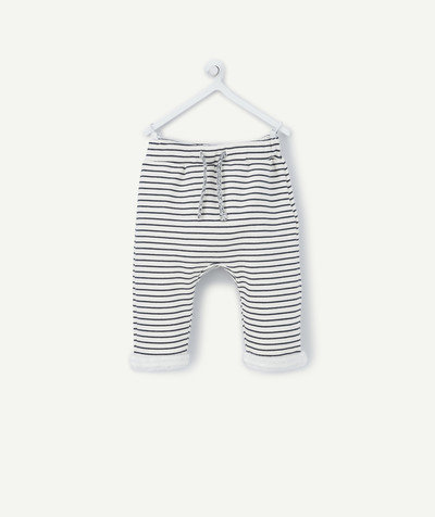 All collection radius - STRIPED FLEECY HAREM PANTS LINED IN POLAR FLEECE
