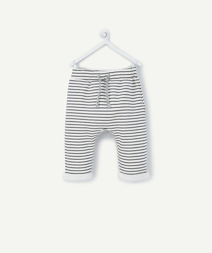 Clothing radius - STRIPED FLEECY HAREM PANTS LINED IN POLAR FLEECE