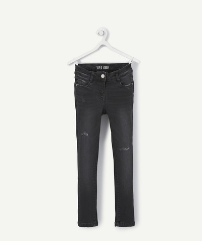 Trousers size + radius - SUPER-SKINNY BLACK JEANS, PLUS SIZE