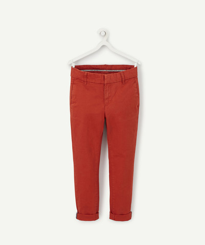 Toute la collection Rayon - LE PANTALON CHINO ROUGE BRIQUE