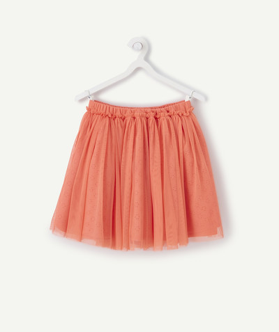 Jupe Rayon - LA JUPE TOURNANTE ROSE AVEC BRODERIE ANGLAISE ET TULLE