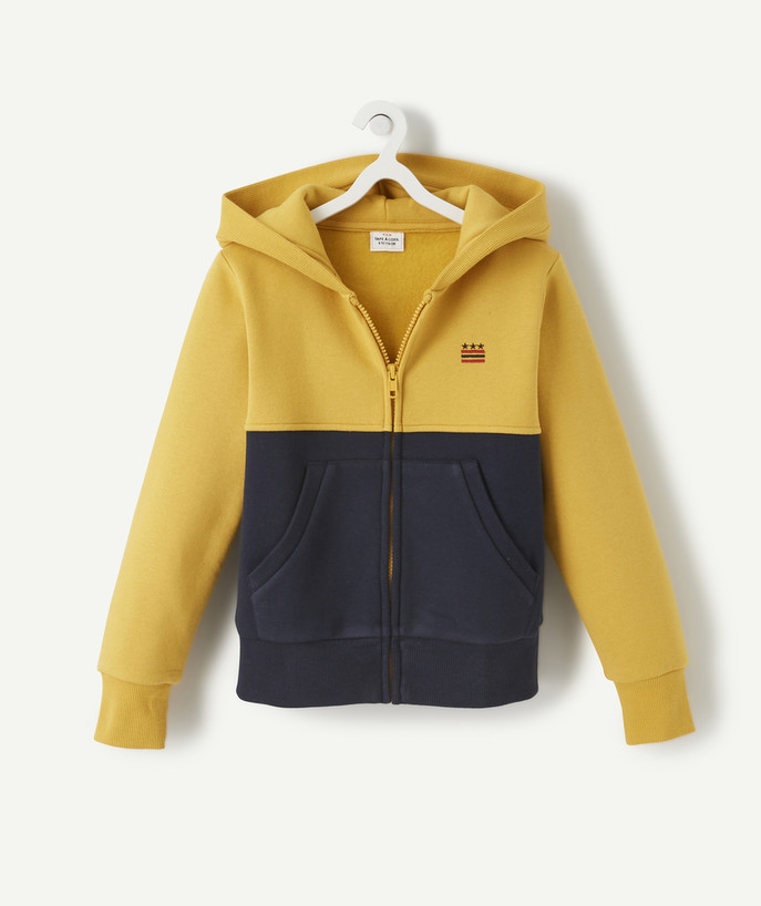 Sweat Rayon - Le sweat zippé jaune colorblock