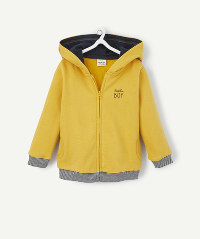 All collection radius - MUSTARD ZIPPED JACKET IN FLEECE