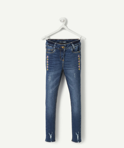 Jeans radius - RAW DENIM SUPER-SKINNY JEANS WITH EMBROIDERY