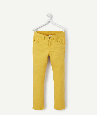 Trousers size + radius - YELLOW WRINKLED SKINNY TROUSERS, PLUS SIZE