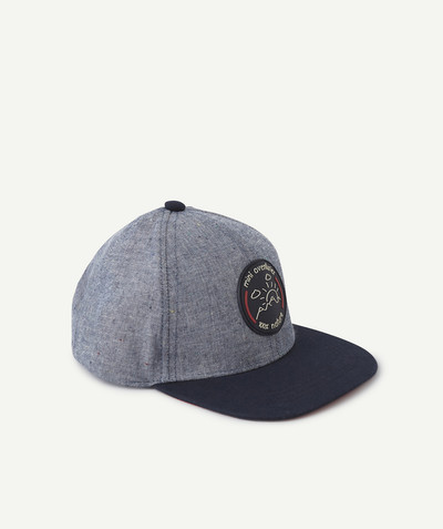 All collection radius - CAP IN COTTON WITH A RUBBER PATCH