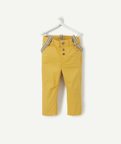 All collection radius - MUSTARD-COLOURED CHINO TROUSERS WITH BRACES