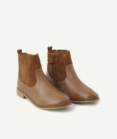 Chaussures, chaussons Rayon - LES BOOTS EN CUIR CAMEL