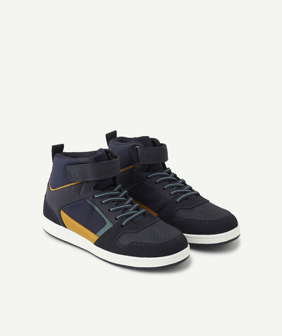 Trainers radius - NAVY BLUE HIGH-RISE SHOES WITH ELASTICATED LACES