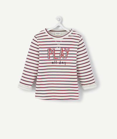 All collection radius - LINED STRIPED T-SHIRT IN ORGANIC COTTON
