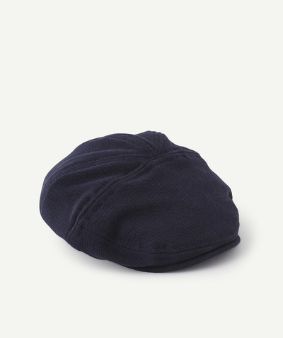 Special Occasion Collection radius - NAVY BLUE CAP IN COTTON PIQUE