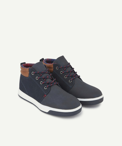 Outlet radius - SMART NAVY BLUE SHOES IN FAUX SUEDE