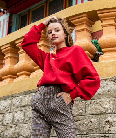 Ado Fille Rayon - LE SWEAT OVERSIZE ROUGE