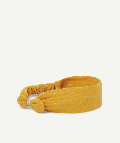 Baby-girl radius - MUSTARD YELLOW HAIRBAND WITH GOLDEN SPOTS