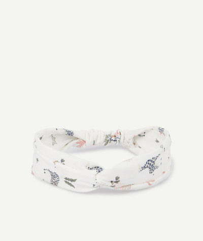 Baby-girl radius - WHITE PRINTED HAIRBAND