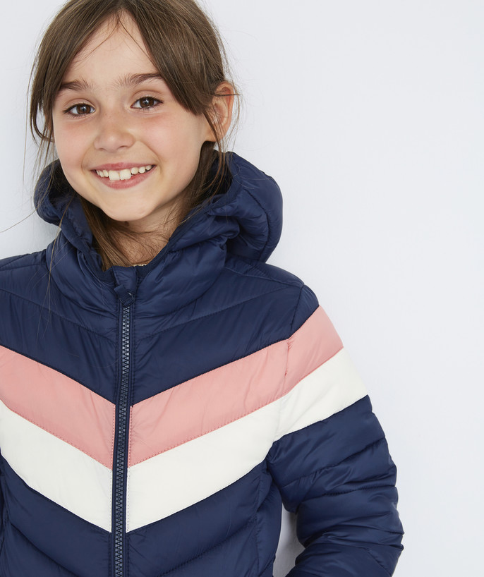 Coat - Padded jacket - Jacket radius - LIGHT AND WATER-REPELLENT TRICOLOURED PADDED JACKET