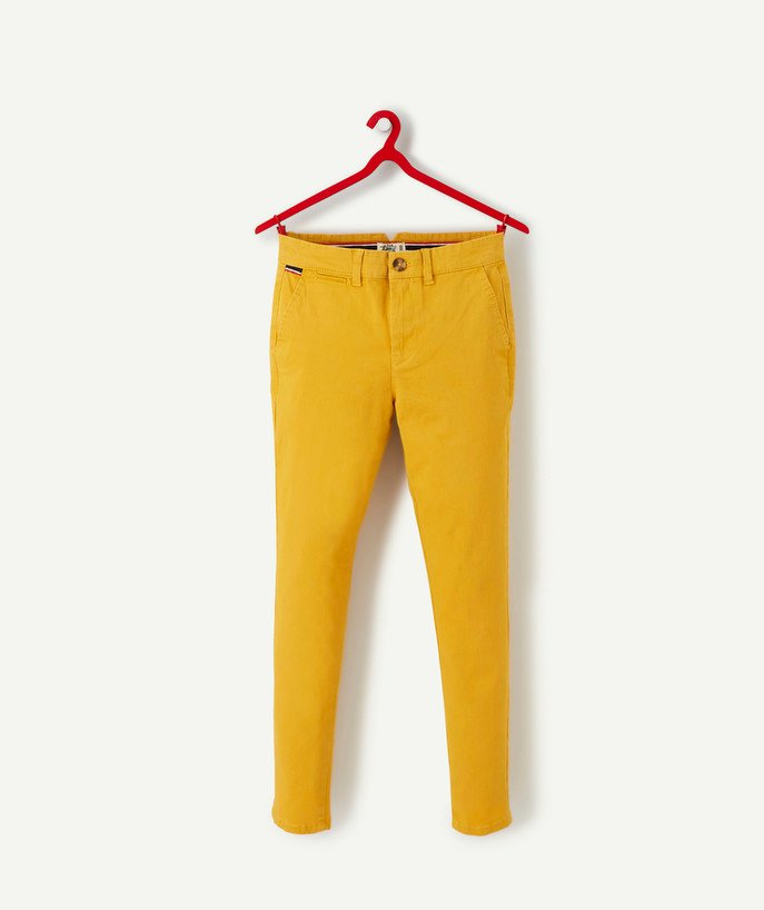 Trousers - Jeans radius - YELLOW CHINO TROUSERS