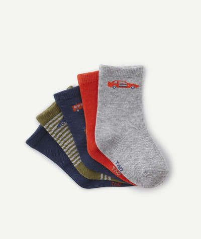 Accessories radius - FIVE PAIRS OF RACING CAR SOCKS