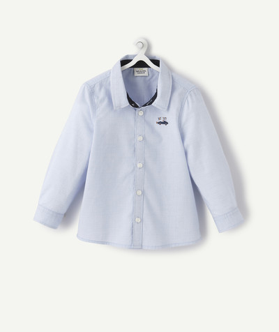 Shirt and polo radius - BLUE EMBROIDERED SHIRT