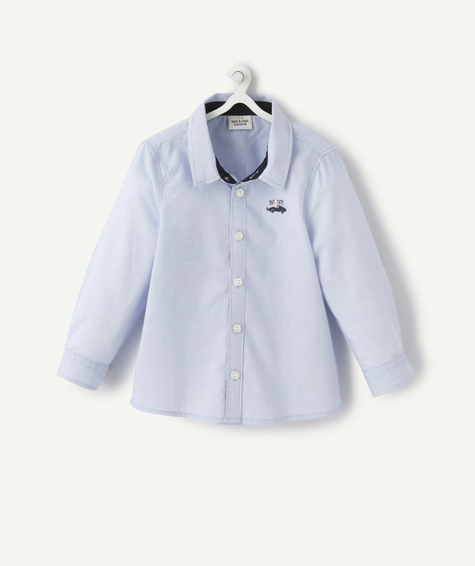 All collection radius - BLUE EMBROIDERED SHIRT