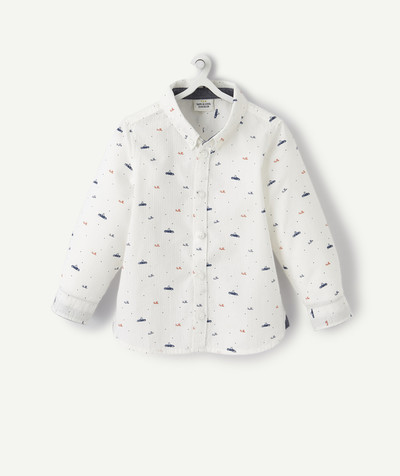 All collection radius - WHITE PRINTED SHIRT