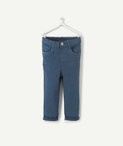 All collection radius - SLIM BLUE-GREY TROUSERS IN A TENCEL® BLEND