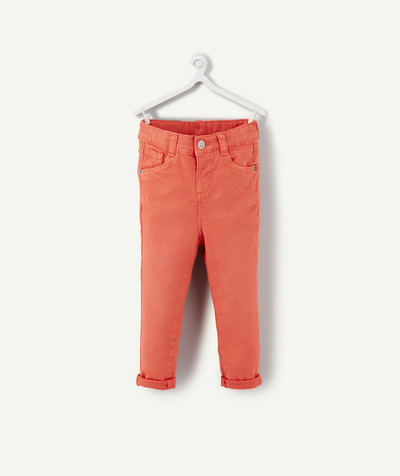All collection radius - SLIM CORAL TROUSERS IN A TENCEL® BLEND