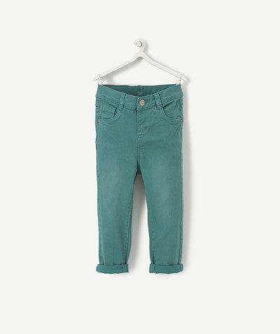 All collection radius - SLIM GREEN TROUSERS IN A TENCEL® BLEND