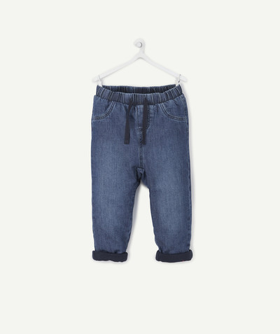 All collection radius - HAREM PANTS IN LINED WOVEN DENIM