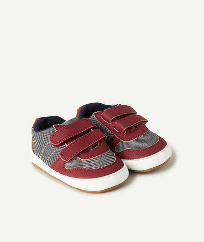 All collection radius - SANDAL-STYLE GREY AND RED BOOTIES
