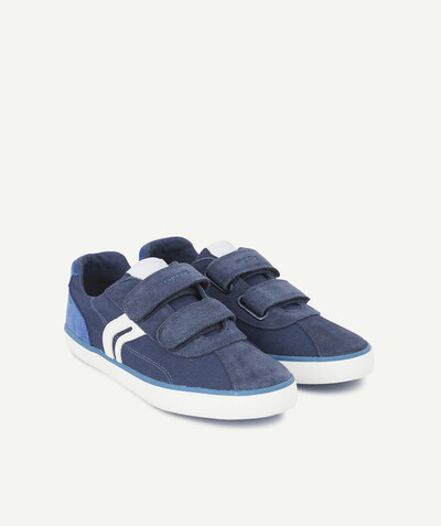 GEOX ® radius - GEOX ® - BLUE TRAINERS IN SUEDE AND CANVAS