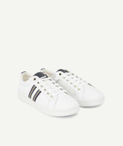 GEOX ® radius - GEOX ® - WHITE TRAINERS WITH GOLD PATTERNS FIXED ON THE SIDES