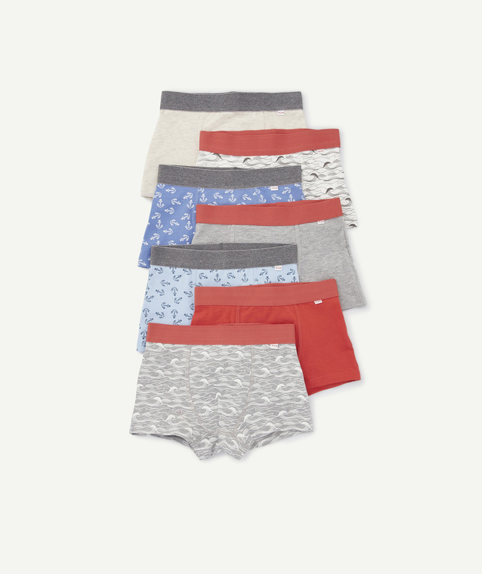 Underwear radius - PACK OF SEVEN PAIRS OF BOXER SHORTS PRINTED OR PLAIN