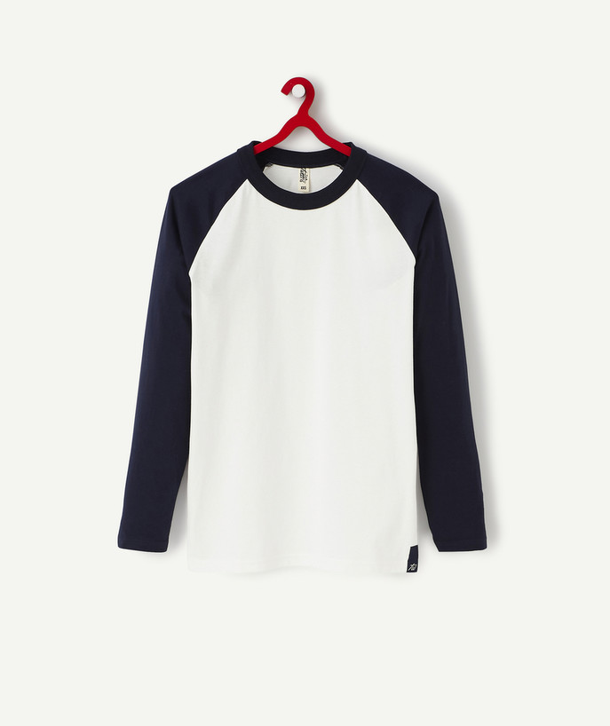 T-shirt radius - NAVY BLUE AND WHITE T-SHIRT IN ORGANIC COTTON